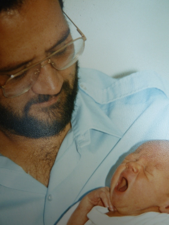 Dad with baby AJ
